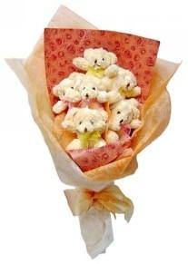 12 adet ayiciktan buket  Bursa çiçekçisi hediye çiçek yolla