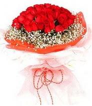 Bursadaki çiçekçiler  21 adet askin kirmizi gül buketi