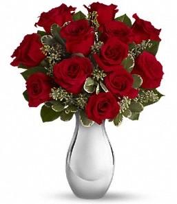 Bursa çiçek siparişi   vazo içerisinde 11 adet kırmızı gül tanzimi