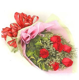 Bursa çiçek gönderimi  6 adet kırmızı gülden buket
