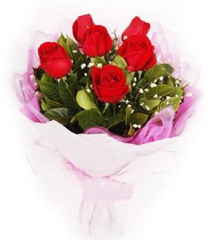 Bursadaki çiçekçiler  kırmızı 6 adet gülden buket