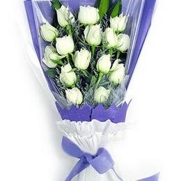 Bursaya çiçek siparişi  11 adet beyaz gül buket modeli
