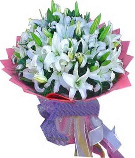 7 dal cazablanca görsel buketi  Bursaya çiçek siparişi