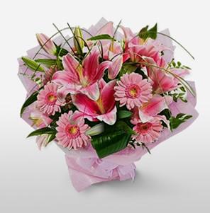 1 dal kazablanka ve kır çiçek görsel buketi  Bursadaki çiçekçiler
