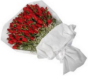 Bursa çiçek çiçekçi  51 adet kırmızı gül buket çiçeği
