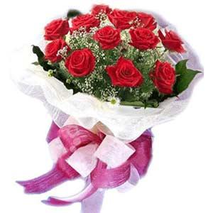bursa çiçekçiler çiçek satışı  11 adet kırmızı güllerden buket modeli