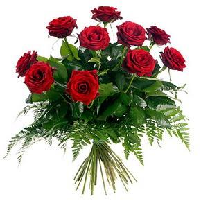 online bursa çiçek siparişi   10 adet kırmızı gülden buket