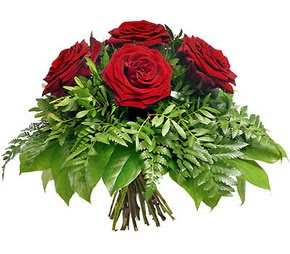 çiçek siparişi bursa  5 adet kırmızı gülden buket