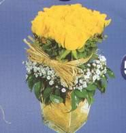 Bursa çiçek ucuz çiçek gönder  Cam vazoda 9 Sari gül