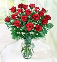 Bursadaki çiçekçiler  9 adet mika yada vazoda kirmizi güller