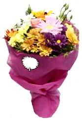1 demet karışık görsel buket  Bursa çiçek ucuz çiçek gönder