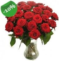 Vazo içerisinde 25 adet kırmızı gül  Bursa online çiçekçi