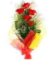 5 li kırmızı gül buketi  Bursadaki çiçekçiler