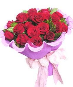 12 adet kırmızı gülden görsel buket  Bursaya çiçek siparişi