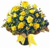 Bursa çiçek gönderimi  Sari gül karanfil ve kir çiçekleri
