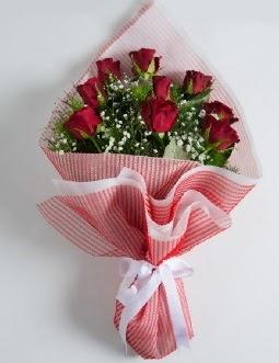 9 adet kırmızı gülden buket  bursa çiçekçiler çiçek satışı