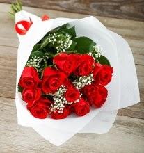 9 kırmızı gülden buket çiçeği  online bursa çiçek siparişi