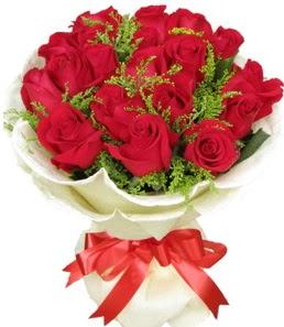 19 adet kırmızı gülden buket tanzimi  Bursa online çiçek siparişi