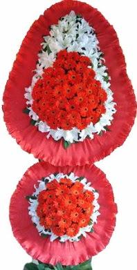 Bursa çiçek yolla   Çift katlı kaliteli düğün açılış sepeti