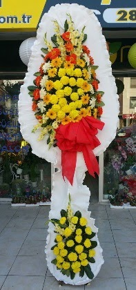Çift katlı düğün nikah açılış çiçeği  Bursaya çiçek siparişi vermek