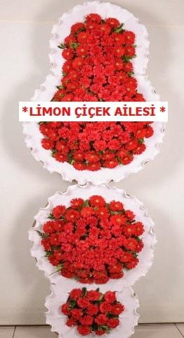 3 katlı kırmızı düğün açılış çiçeği  online bursa çiçek siparişi
