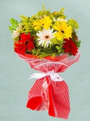 Karışık Gelbera Buketi  Bursa çiçekçisi hediye çiçek yolla