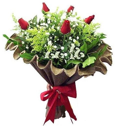 5 adet gülden buket  Bursa cicekci bursaya çiçek yolla