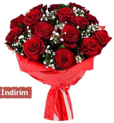 12 Adet kırmızı aşk gülleri  bursa çiçekçiler çiçek satışı