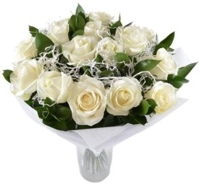 15 beyaz gül buketi sade aşk  bursa çiçekçiler çiçek satışı