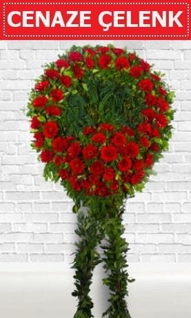 Kırmızı Çelenk Cenaze çiçeği  Bursa çiçek çiçekçi