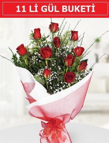11 adet kırmızı gül buketi Aşk budur  Bursa cicekci bursaya çiçek yolla